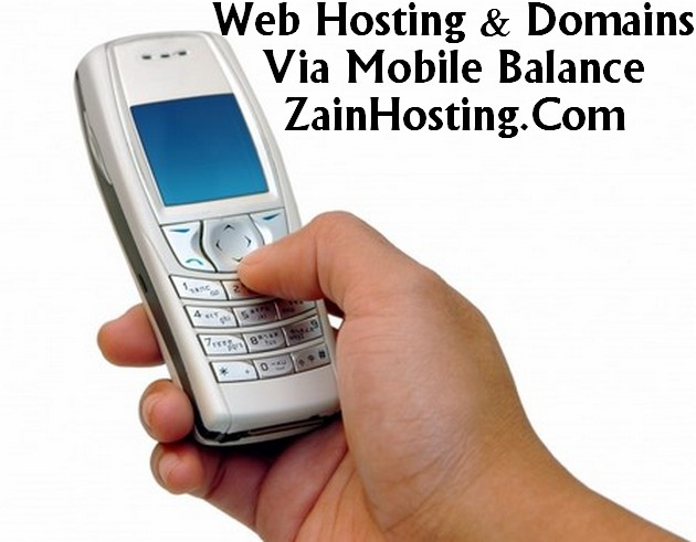 Buy Web Hosting & Domains via Mobile Balance