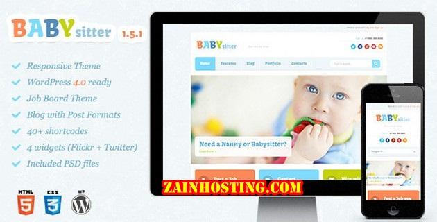 Babysitter v1.5.1 Responsive WordPress Theme Free Download