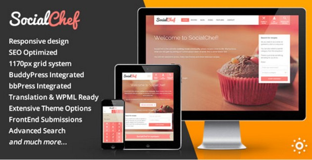 SocialChef v1.21 – Recipe WordPress Theme Download Free