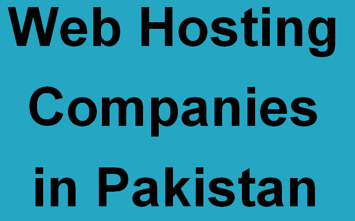 Web Hosting Companies in Pakistan
